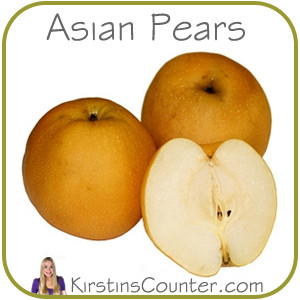 Chinese Medicinal Properties of Asian Pears